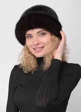 Шляпа из норки 105 с утеплителем, КАЛЯЕВ