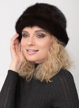 Шляпа из норки 154 с утеплителем, КАЛЯЕВ