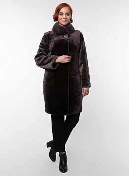 Пальто кокон из овчины 03