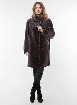 Пальто кокон из астрагана 02, КАЛЯЕВ