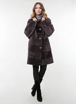 Пальто кокон из астрагана 03, КАЛЯЕВ
