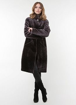 Пальто кокон из астрагана 01, КАЛЯЕВ