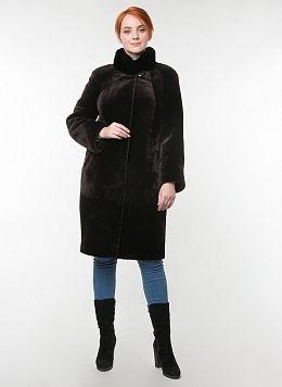 Пальто кокон из мутона 05, КАЛЯЕВ