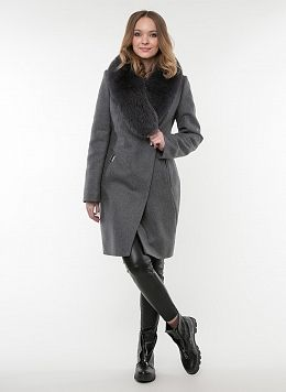 Пальто зимнее приталенное шерстяное 58, КАЛЯЕВ