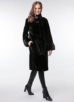 Пальто кокон из астрагана 07, КАЛЯЕВ