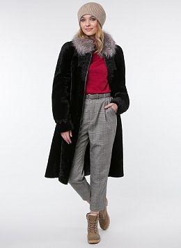 Пальто трапеция из мутона 13