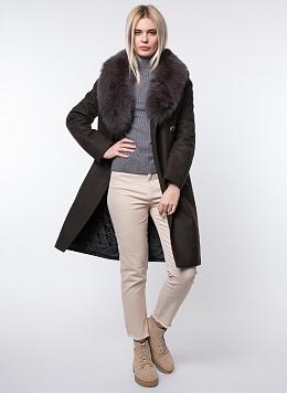 Пальто зимнее приталенное шерстяное 34, КАЛЯЕВ