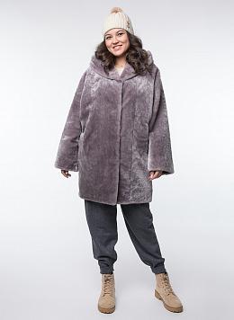 Пальто прямое из мутона 06, КАЛЯЕВ