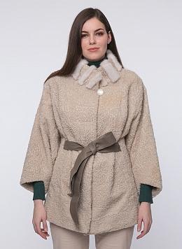 Куртка кокон из овчины 01, КАЛЯЕВ