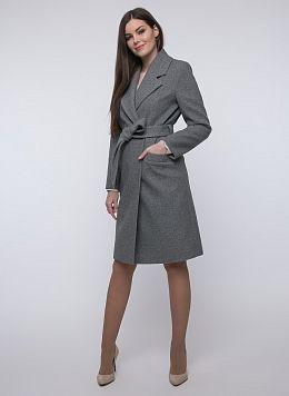 Пальто прямое шерстяное 18, КАЛЯЕВ