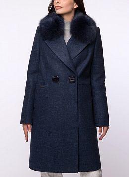 Пальто зимнее прямое полушерстяное 50, КАЛЯЕВ