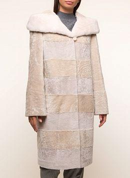 Пальто кокон из астрагана 04, КАЛЯЕВ