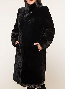 Пальто приталенное из мутона 10