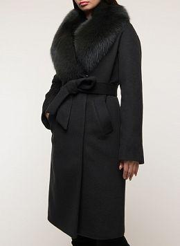 Пальто зимнее прямое шерстяное 46, КАЛЯЕВ
