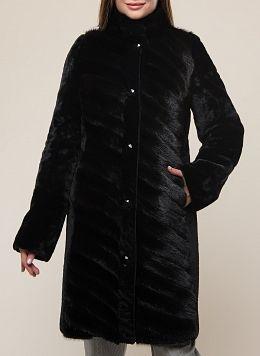 Пальто приталенное из мутона 13, КАЛЯЕВ
