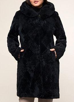 Пальто трапеция из астрагана 01, КАЛЯЕВ