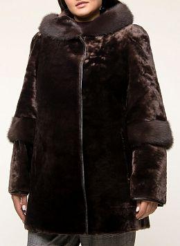 Куртка из мутона трапеция 10, КАЛЯЕВ