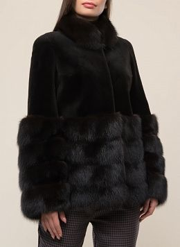 Куртка из нутрии Эльвира 01, КАЛЯЕВ