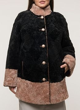 Куртка из овчины прямая 02, Anna Romanova furs