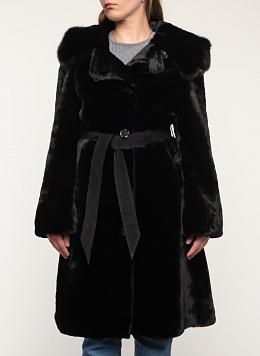 Пальто приталенное из мутона 01, КАЛЯЕВ