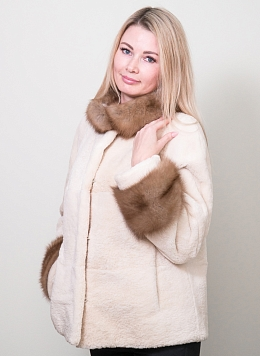 Куртка из бобра Юстина 01, КАЛЯЕВ