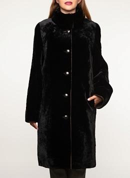 Пальто прямое из мутона 01, КАЛЯЕВ