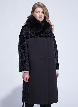 Пальто зимнее комбинированное 02, КАЛЯЕВ