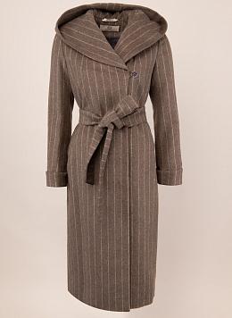 Пальто зимнее полушерстяное с капюшоном 103, КАЛЯЕВ