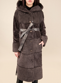 Пальто прямое из овчины 32, КАЛЯЕВ