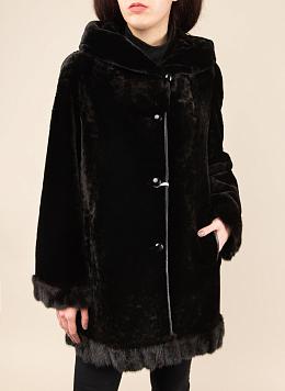 Пальто трапеция из мутона 04, Bonitta