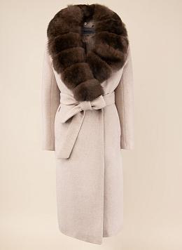 Пальто зимнее прямое шерстяное 92, КАЛЯЕВ
