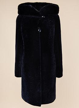 Пальто кокон из астрагана 08, КАЛЯЕВ