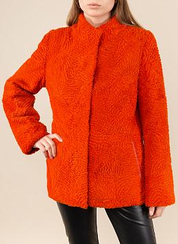 Куртка приталенная из астрагана 01, КАЛЯЕВ