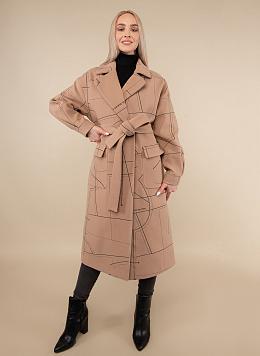 Пальто с вышивкой 155, КАЛЯЕВ