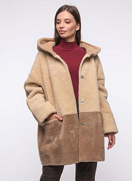 Пальто кокон из овчины 03, КАЛЯЕВ