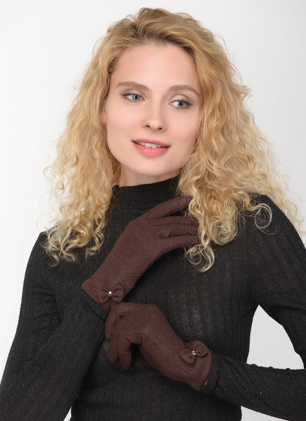 Перчатки шерстяные женские 01, YVONNE фото