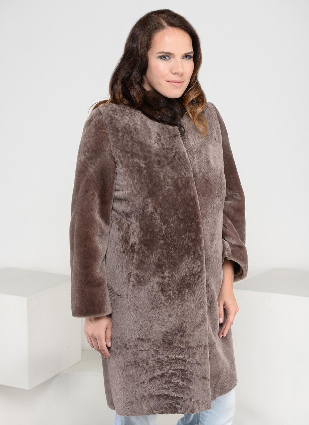 Пальто кокон из астрагана 11, Adriano Sergio