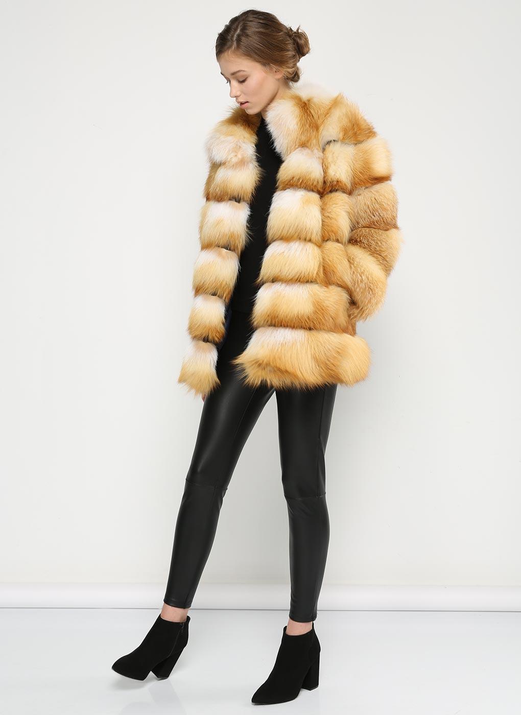 Куртка из лисы Джульетта 1 02 фото