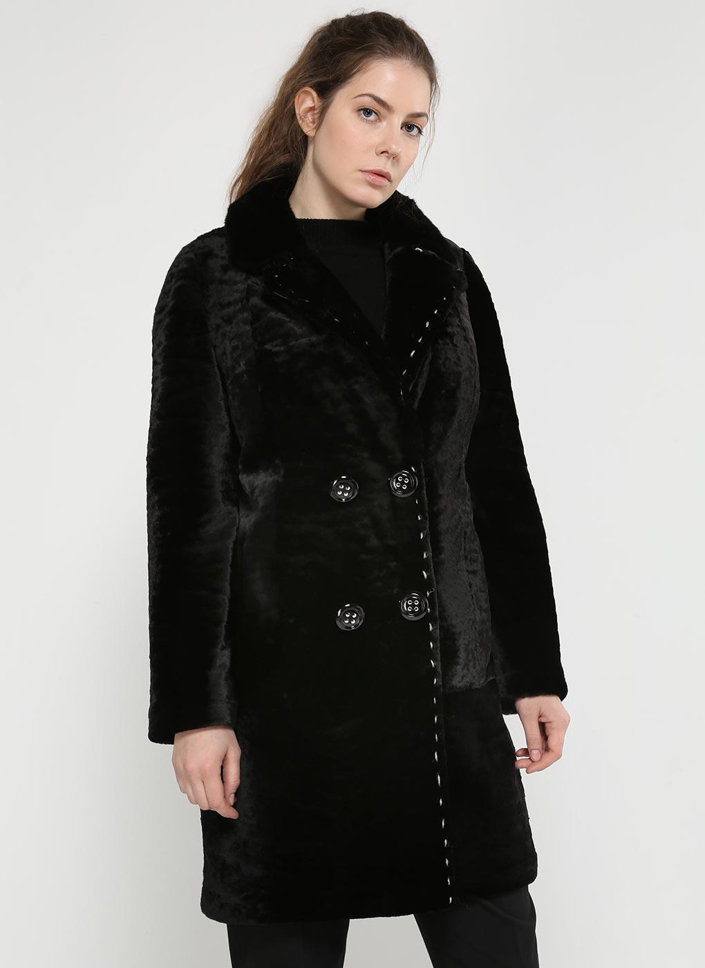 Пальто кокон из астрагана 05, Заря