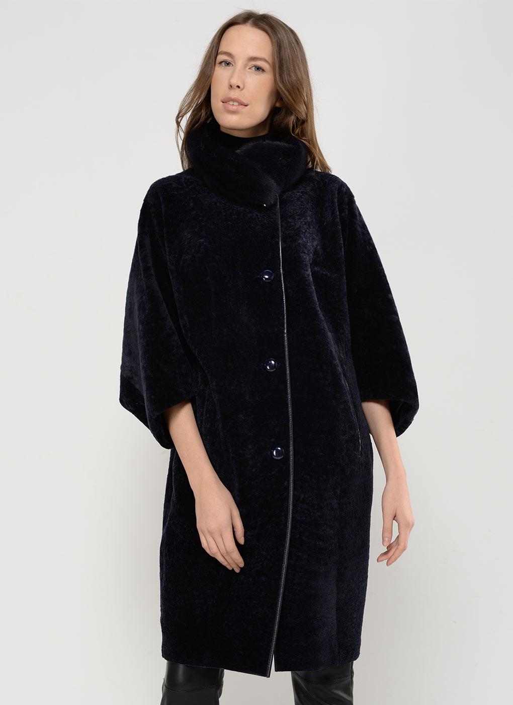 Пальто кокон из астрагана 05, Aliance fur