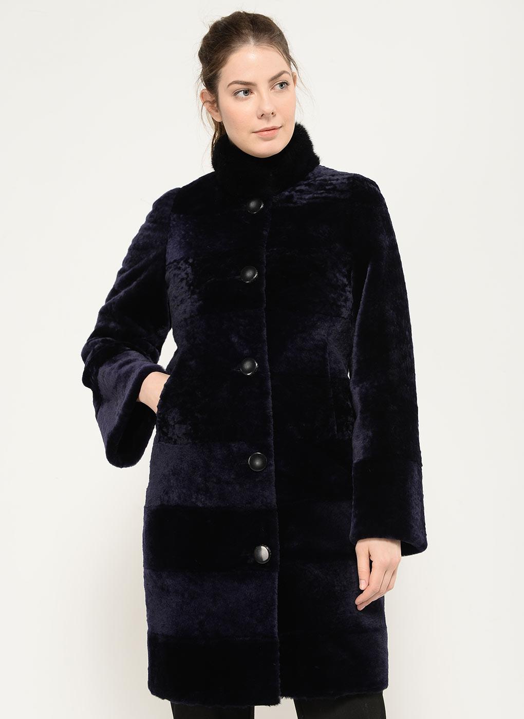 Пальто кокон из мутона 03, Adriano Sergio фото