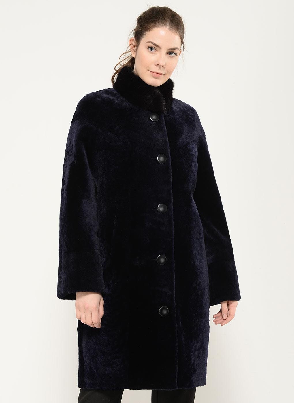 Пальто кокон из мутона 01, Adriano Sergio