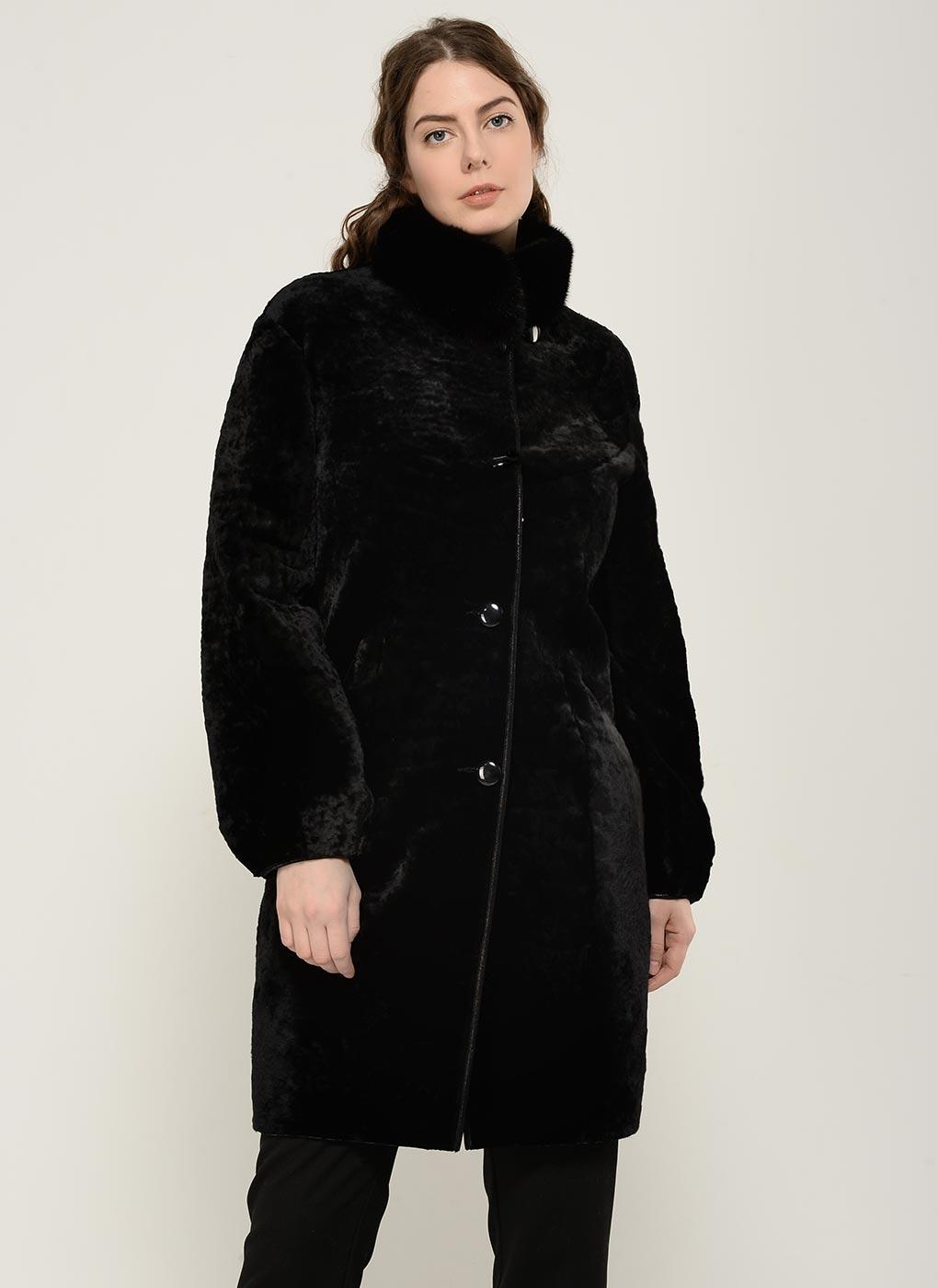 Пальто кокон из астрагана 02, Aliance fur