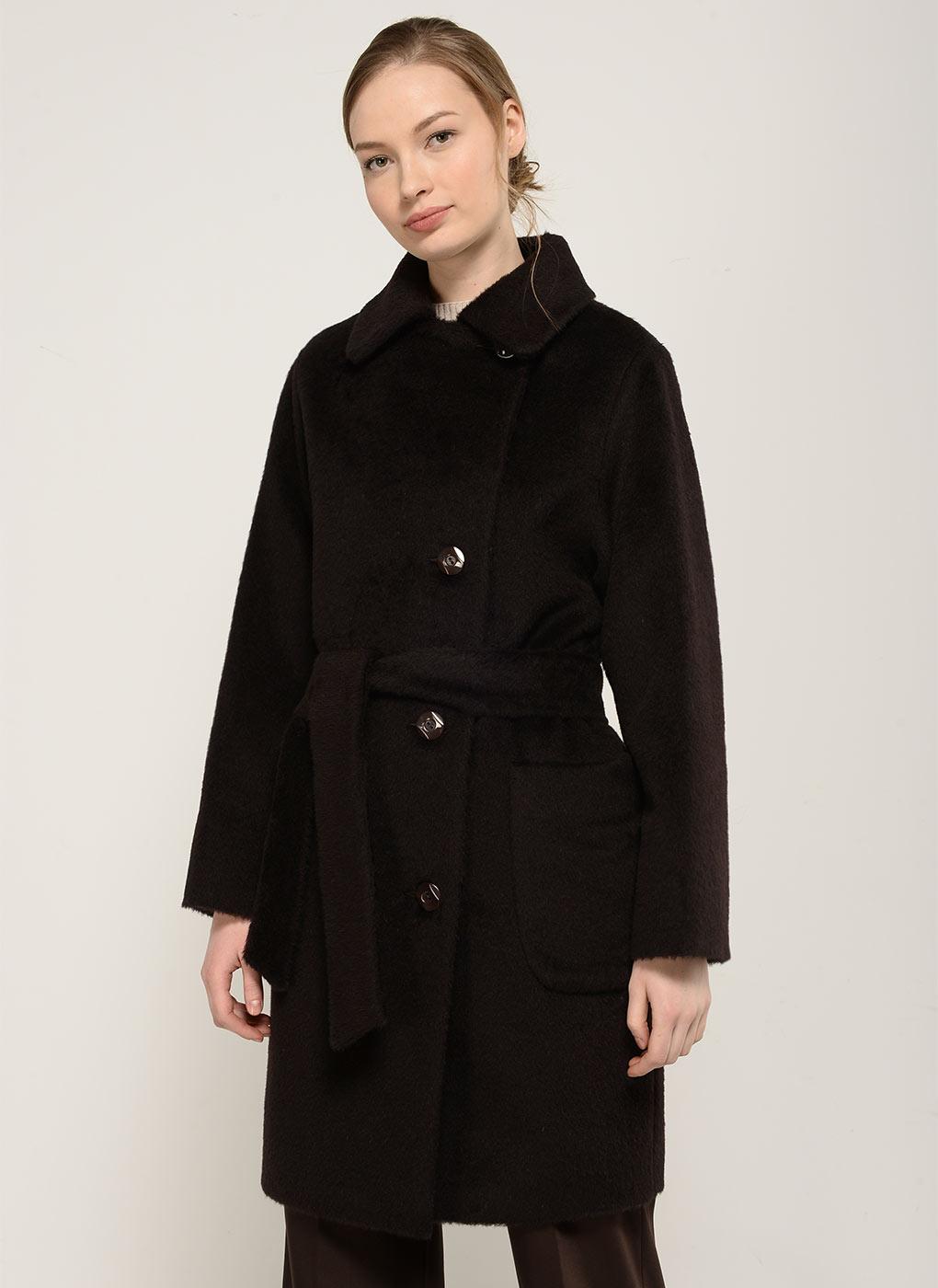 Пальто прямое чистошерстяное 32, Bella collection фото