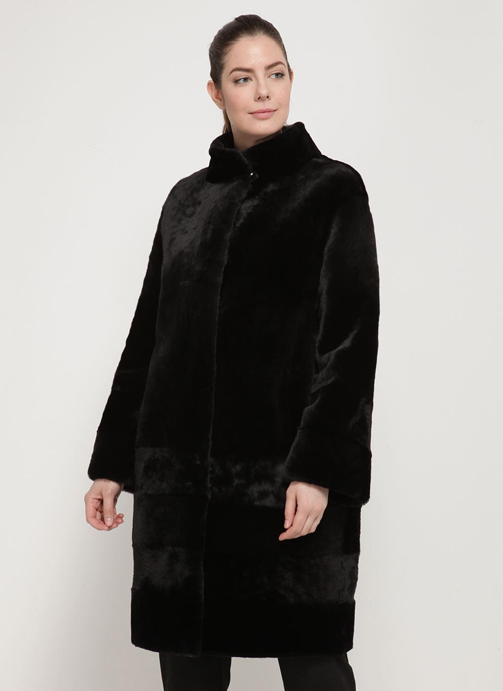 Пальто кокон из мутона 12, Aliance fur