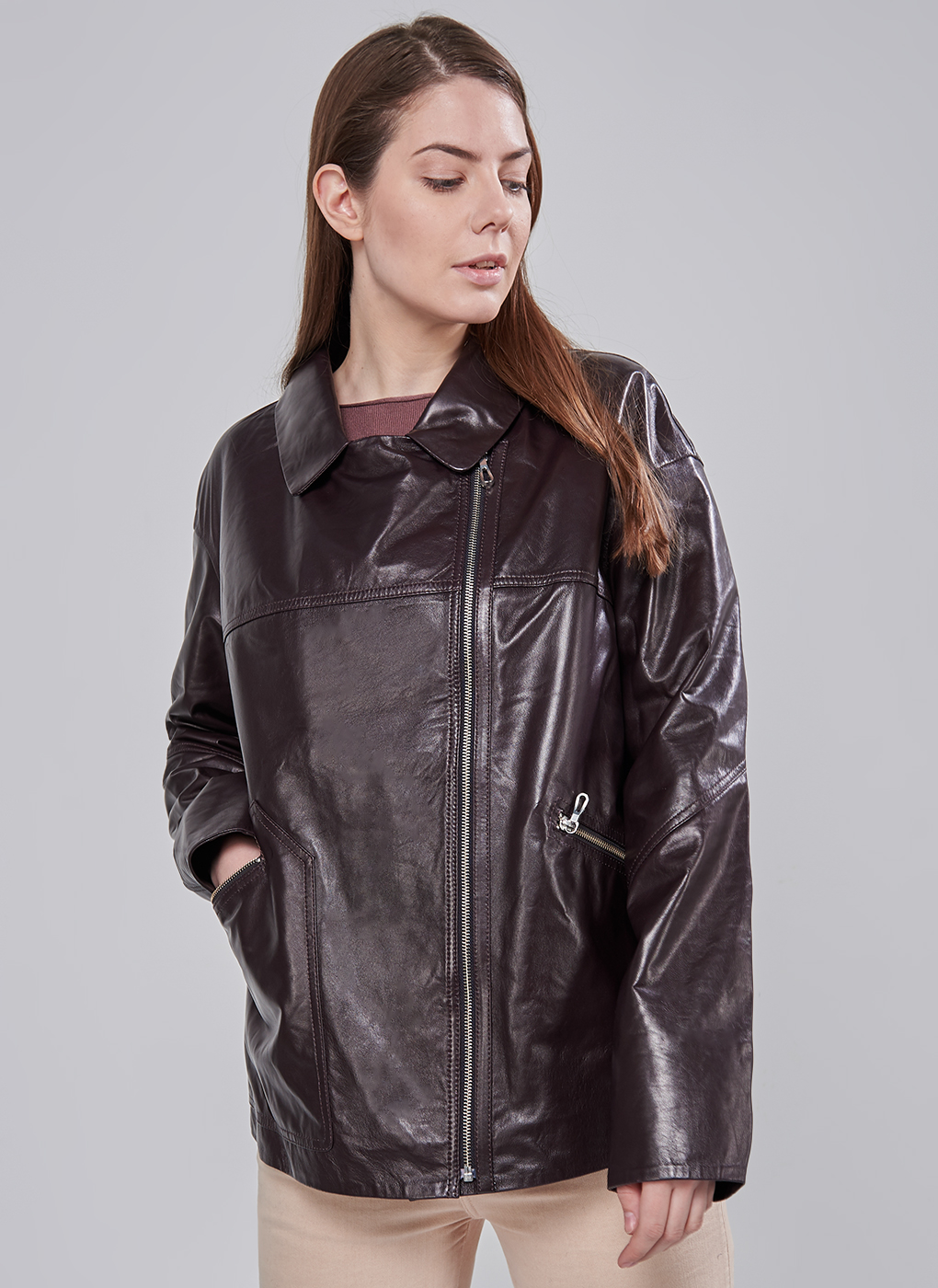 Кожаная куртка прямая 17, Perre фото
