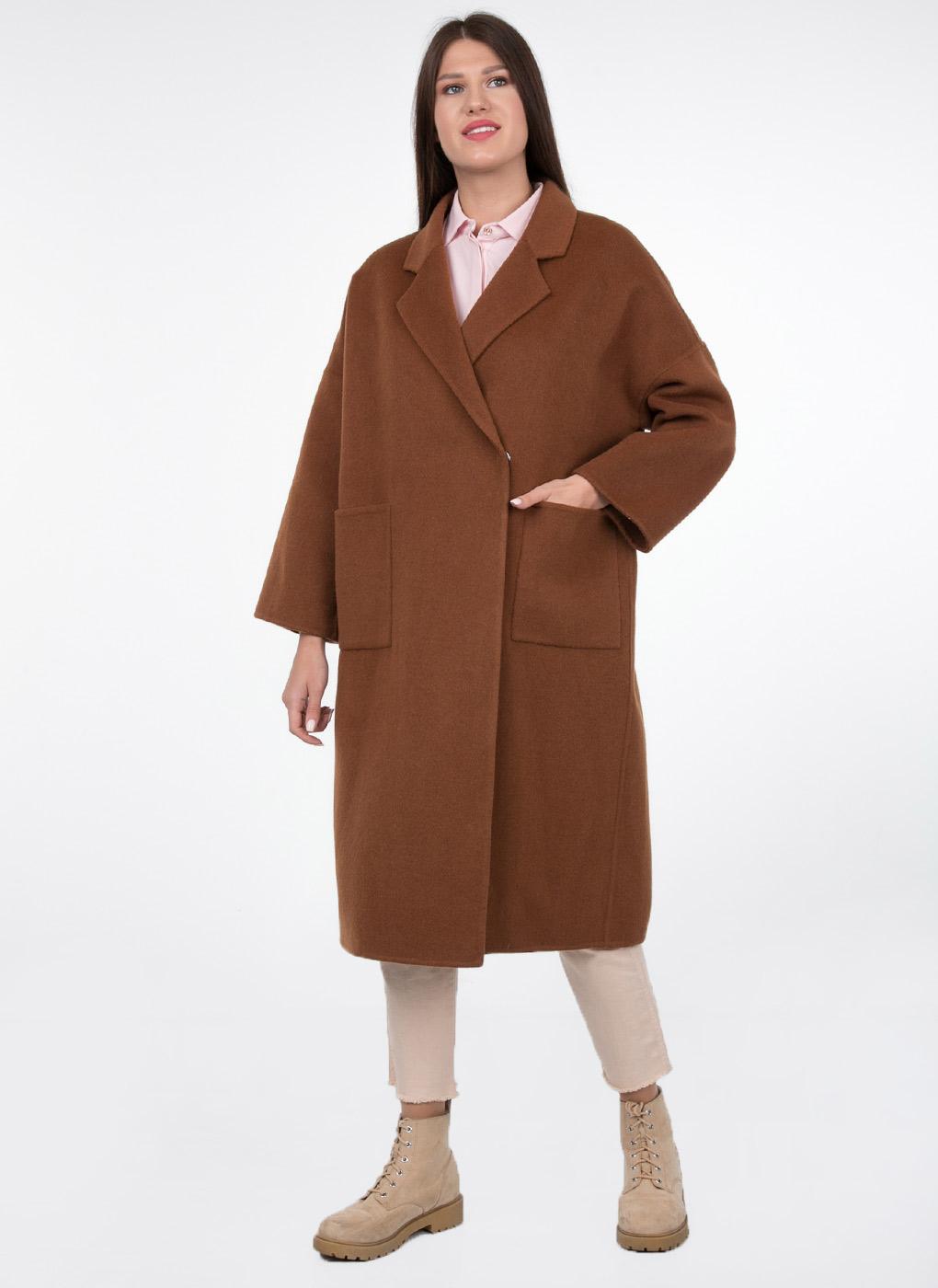 Пальто без подкладки кокон полушерстяное 101, КАЛЯЕВ