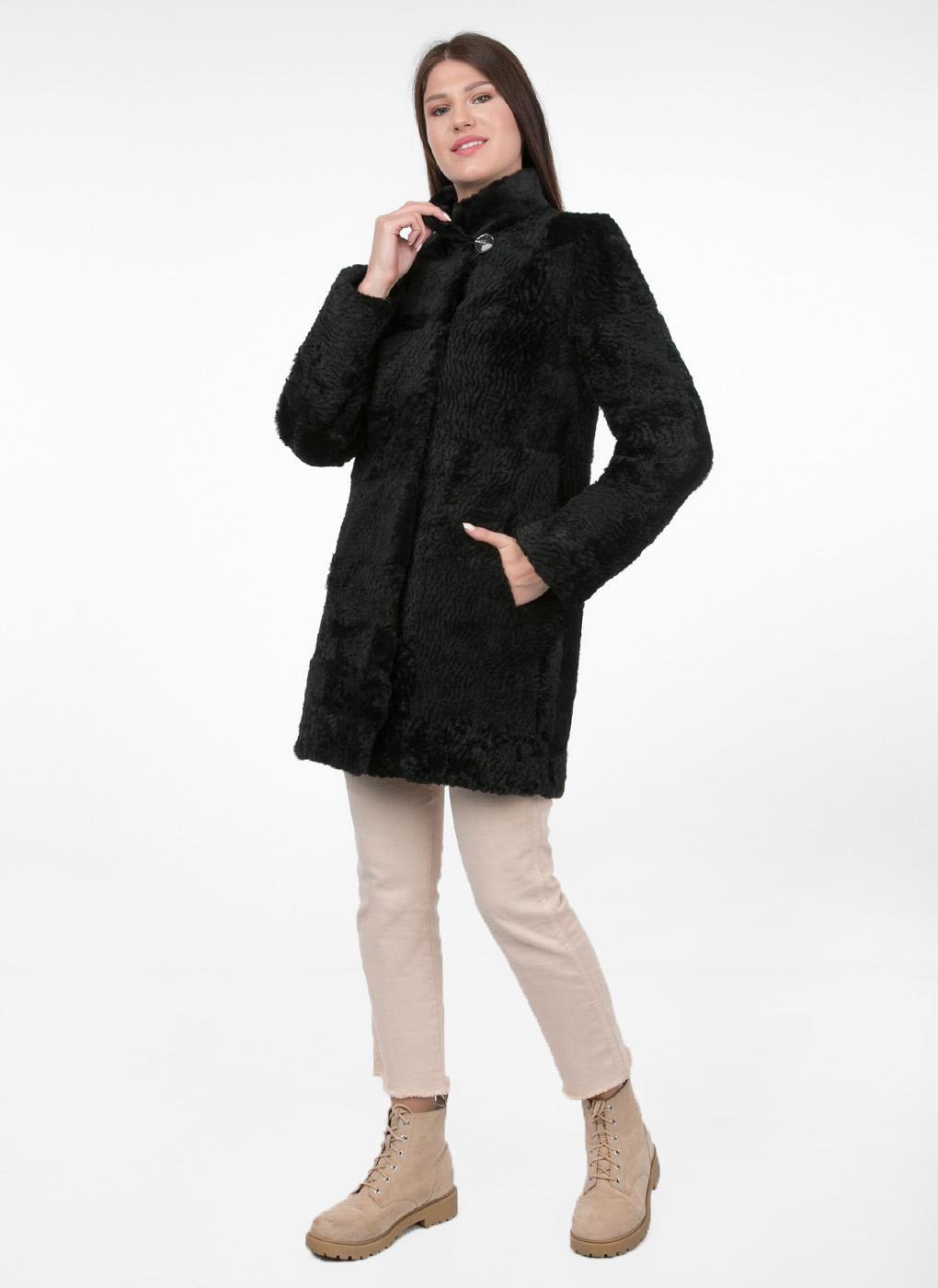 Пальто прямое из мутона 03, Original fur company фото