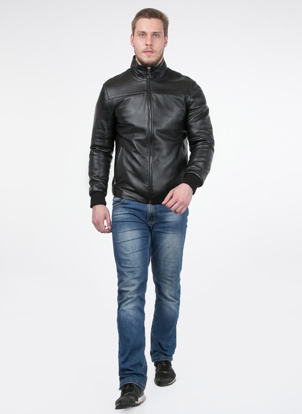 Кожаная куртка мужская утепленная 02, Original fur company фото
