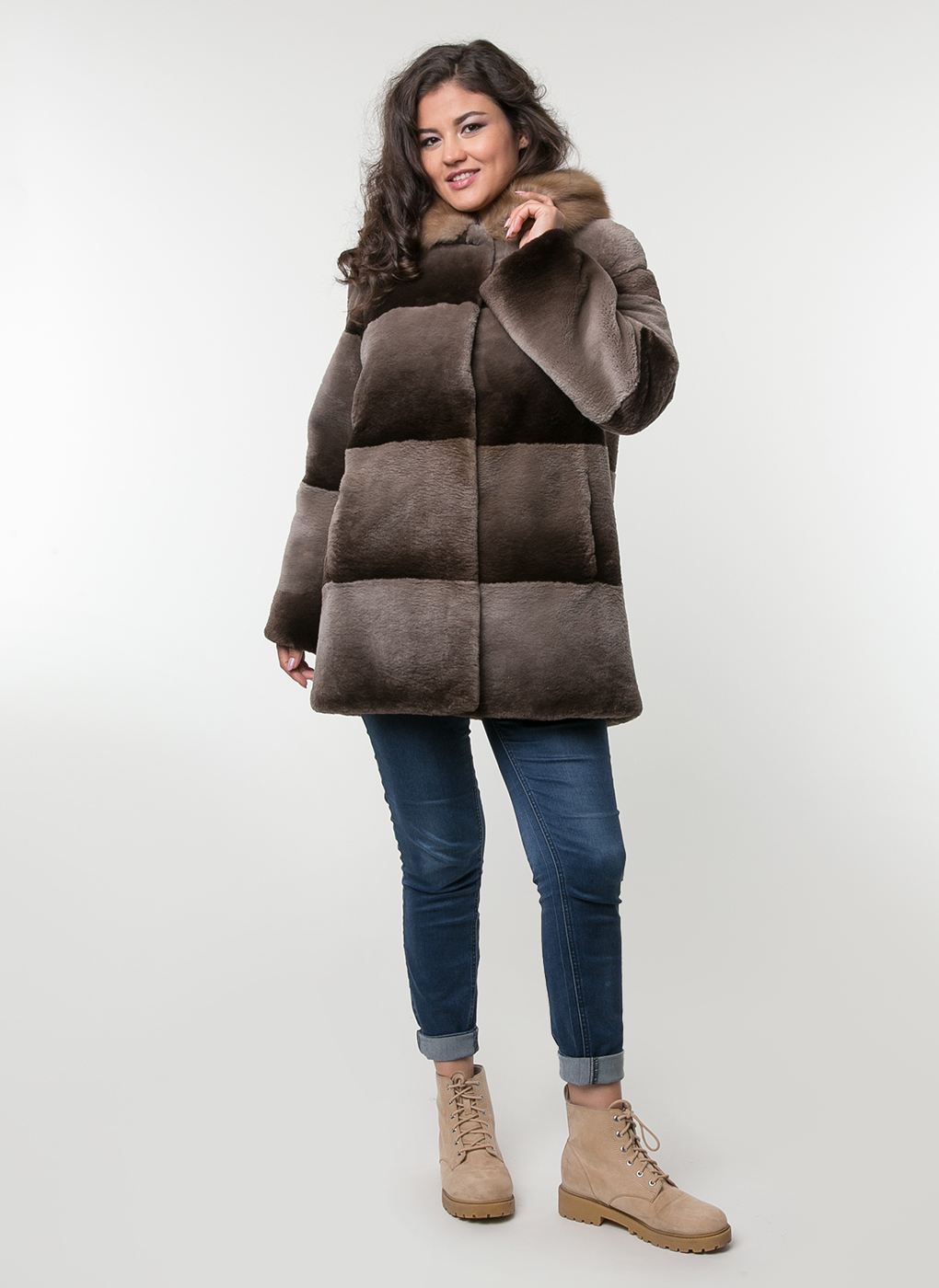 Куртка из бобра Автоледи 04, Лики меха
